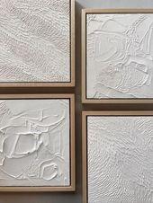 DIY textured canvas