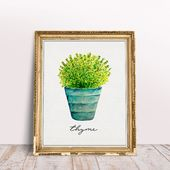 Free Kitchen Herb Wall Art Printables | The Cottage Market