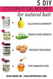 5 DIY Coconut Oil Recipes For Natural Hair | Millennial in Debt