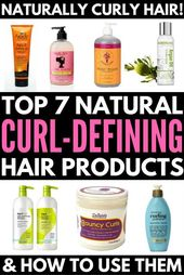 7 Natural Hair Care Products for Curly Hair and How to Use Them