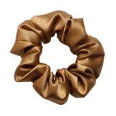 Luxury Midi Gold Hair Scrunchie – Pure 100% Mulberry Silk 22 Momme – Single Hair Scrunchie