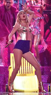 Miley Cyrus performs break-up track Slide Away at VMAs