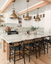 The Top 70+ Best Modern Farmhouse Kitchen Ideas- Interior Home and Design