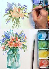 20+ Best Watercolor Flowers Tutorials & Videos