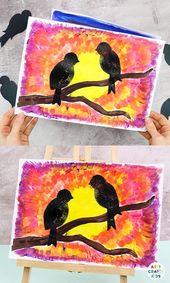 Bird Silhouette Art Project for Kids
