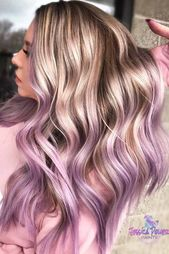 Blonde To Lavender Ombre Hair