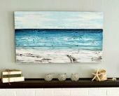 Painted Old Wood Ocean Wall Art | DIY or Shop