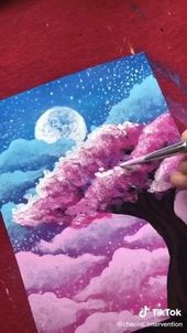 cloud tree painting