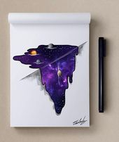 Stars Themed Illustrations by Muhammed Salah   Cuded
